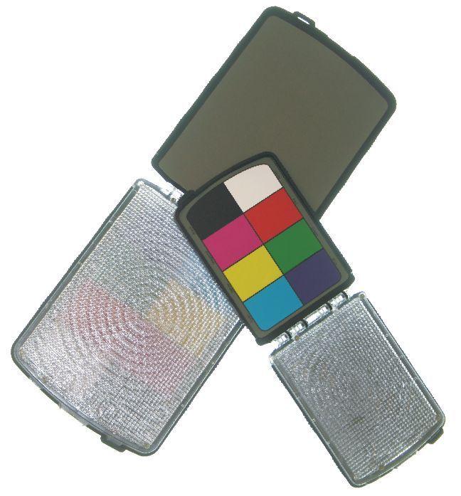 Студийный свет Цветные шкалы и серые карты Комплект настройки цветового баланса ProDisk mini Seculine