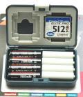 Pudełka na karty pamięci i baterie